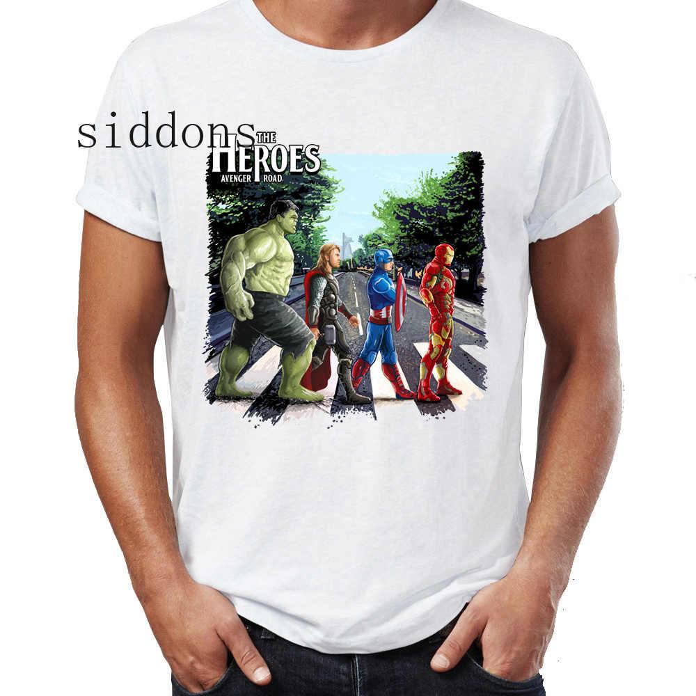 Мужская футболка Человек-паук танцующий Железный человек Старк Прайд рок Марвел супергерой принт белый хлопок Harajuku модная свободная футболка