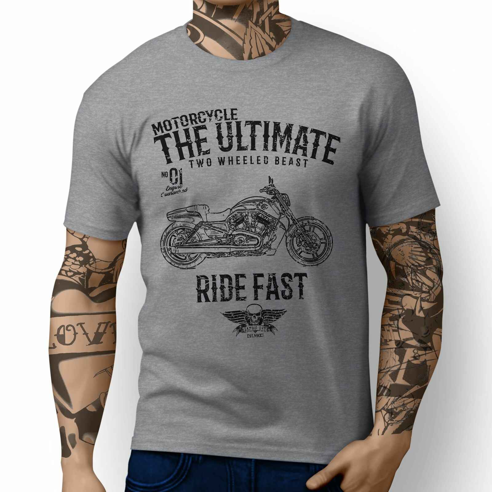Jl Ultima V Rod Muscle Moto Art T-Shirt