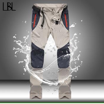 Taktyczne wodoodporne spodnie męskie Cargo wiosna lato szybkie suche spodnie męskie Outdoor Sports Trekking Camping spodnie wędkarskie 4XL tanie i dobre opinie LBL LEADING THE BETTER LIFE Spodnie dresowe CN (pochodzenie) Mieszkanie Poliester Kieszenie skinny 2 - 2 5 Pełnej długości