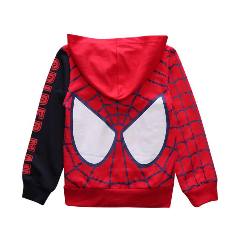 Meninos do Homem-aranha meninos Hoodies Primavera Outono Camisola Roupas crianças hoody meninos jaquetas com capuz bebe casaco Crianças spiderman