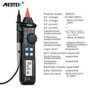 Image 5 - MESTEK Digital Multimeter 6000 Counts Pocket Pen Style Auto Range/Smart Multimeter NCV Detection DC/AC Voltage multimeter