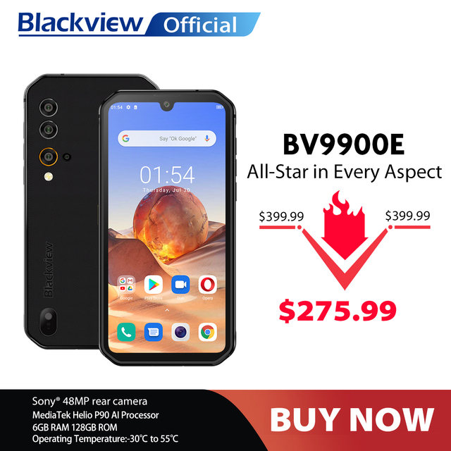 Blackview BV9900E Helio P90 Rugged Smartphone 6GB+128GB IP68 Waterproof 4380mAh 48MP Camera NFC Android 10 Mobile Phone 1