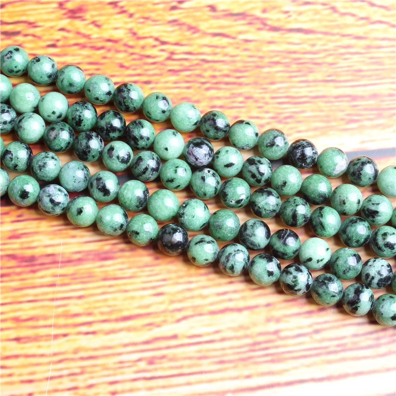 Chlorite Natural Stone Bead Round Loose Spaced Beads 15 Inch Strand 4/6/8 / 10mm For Jewelry Making DIY Bracelet Necklace