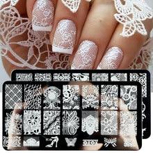 Lace Flowers Nail Stamping Plates Mandala Geometric Nail Art Stamp Templates Polish Printing Stencils Manicure Tools TRBC01-20