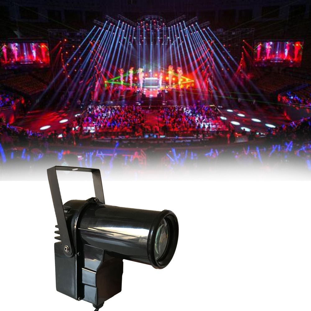 Show Time LED RGBW PinSpot LED Beam spot effect color light Use with glass ball for DJ KTV Party Disco wedding all star in sky image