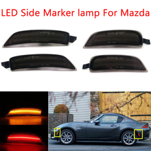 รมควันหรือเลนส์ Amber/Red Full LED Side MARKER Light สำหรับ 2016 up MAZDA MX 5 Miata,ขับเคลื่อนโดยรวม 98 SMD LED