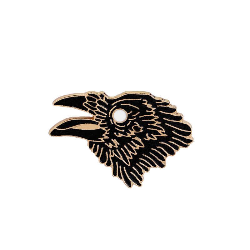 ใหม่การ์ตูนน่ารักนก Pigeon Eagle ผีเสื้อขนมปังผึ้งเข็มกลัด Pin ปุ่มตกแต่งเข็มกลัดสัตว์ Pins เครื่องประดับคริสต์มาสของขวัญ