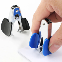 2pcs Portable Home Mini Staple Remover Random Color Lightweight Business Extractor Steel Jaw School Office Binding Tool Durable