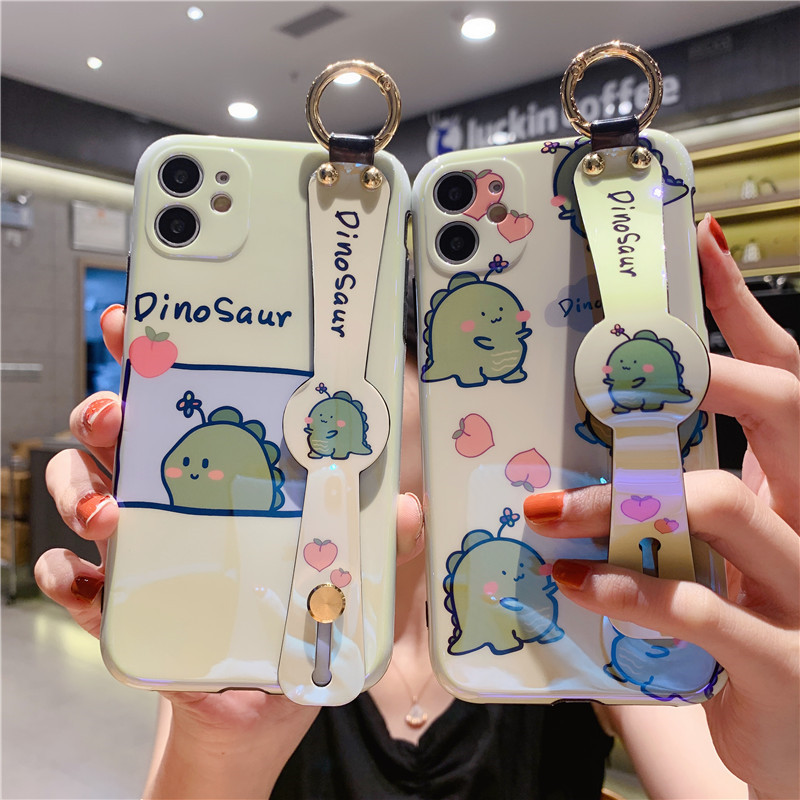 IRONGEER Cartoon Lion Phone Case for iPhone 6S Plus 7 8 Plus soft cover for iPhone X XS MAX Wristband Coque