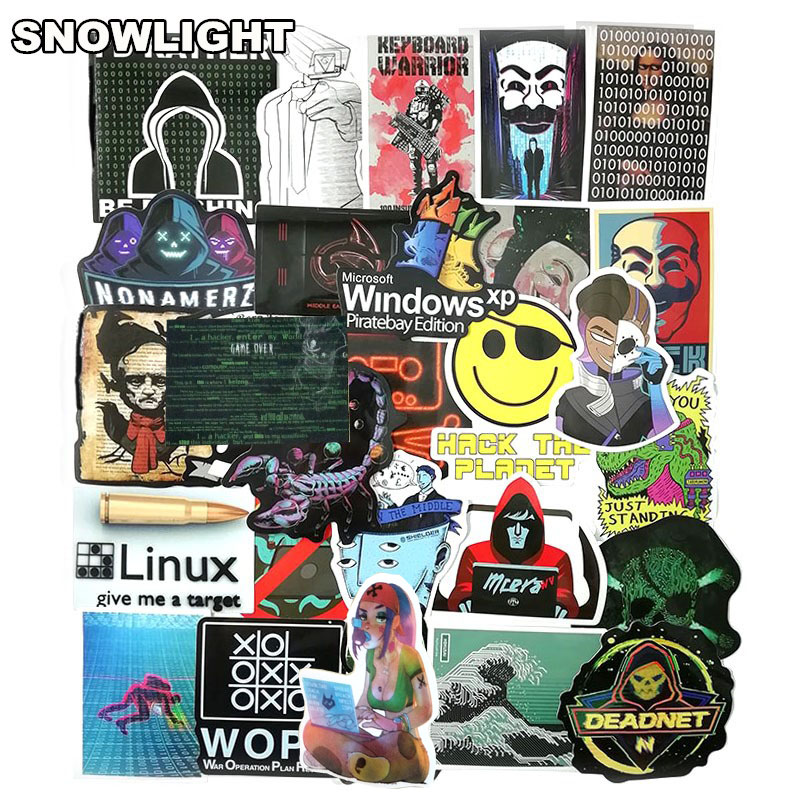 50Pcs/Lot Hacker Developer Docker Stickers Java Programmer SQL Stickers For Luggage Fridge Laptop Guitar Waterproof Stickers