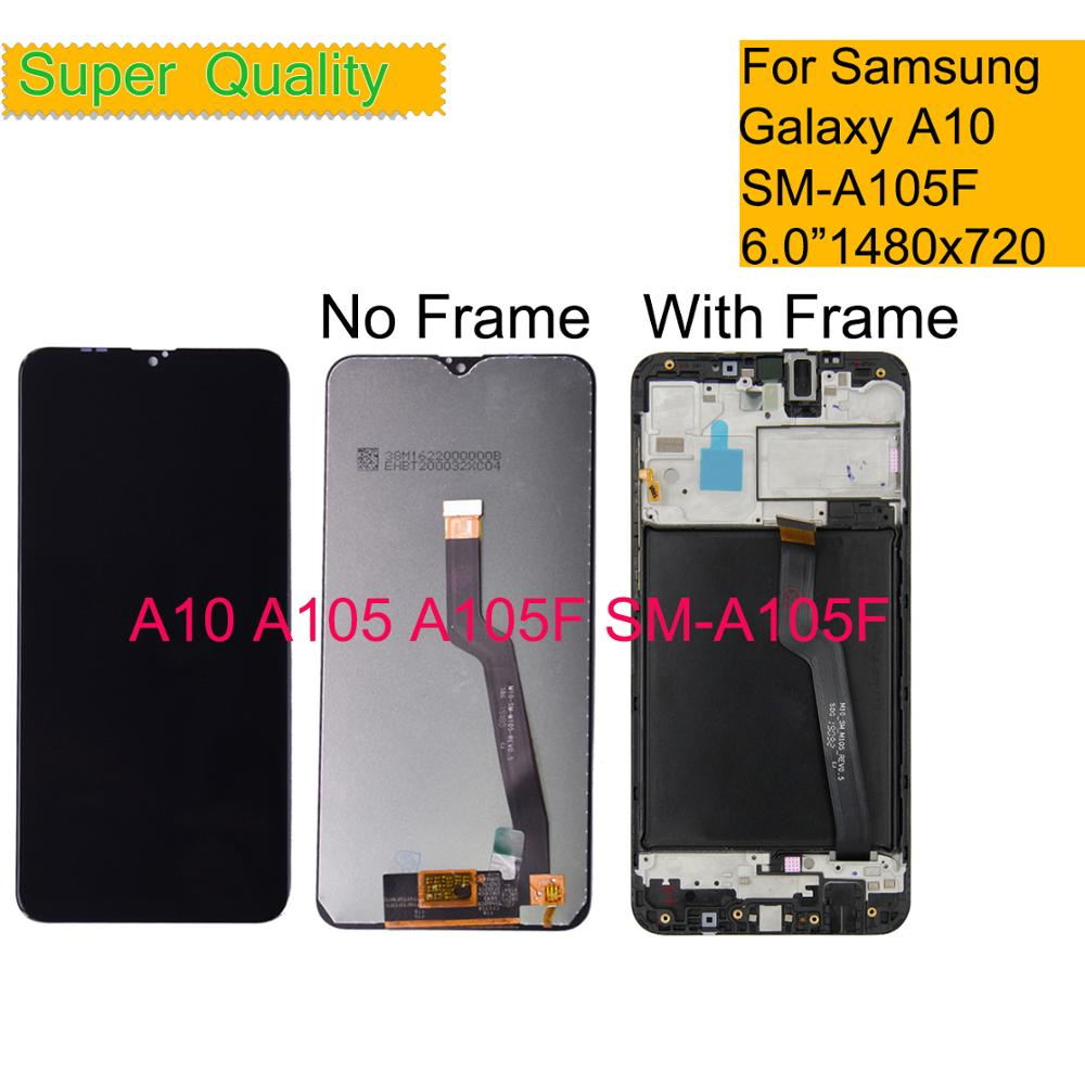10Pcs/lot <font><b>LCD</b></font> For <font><b>Samsung</b></font> Galaxy A10 A105 A105F SM-A105F <font><b>LCD</b></font> Display <font><b>Screen</b></font> With Frame replacement Digitizer Assembly <font><b>M10</b></font> M105 image