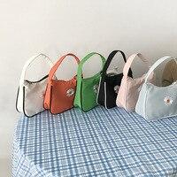 Daisy Embroidery Small Handbag