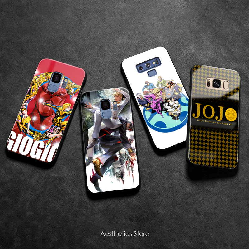 JOJO Part 5 Golden Wind Vento Aureo Soft Silicone smooth Glass Phone Case For Samsung Galaxy S8 S9 S10e S10 Note 8 9 10 Plus image