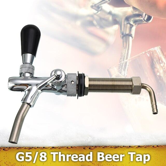 Chất Liệu Thép Không Gỉ Có Thể Điều Chỉnh G5/8 Chủ Đề Bia Tập Với 4Inch Vỏ Mạ Chrome Dự Thảo Bia Vòi Đựng Bia keg Phụ Kiện