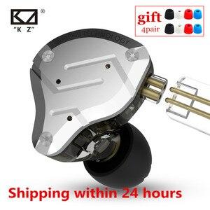 Image 1 - Kz ZS10 プロ 4BA + 1DDハイブリッドハイファイ金属で、耳イヤホンスポーツノイズキャンセヘッドセットAS10 BA10 zst zsnプロES4 T2 AS16
