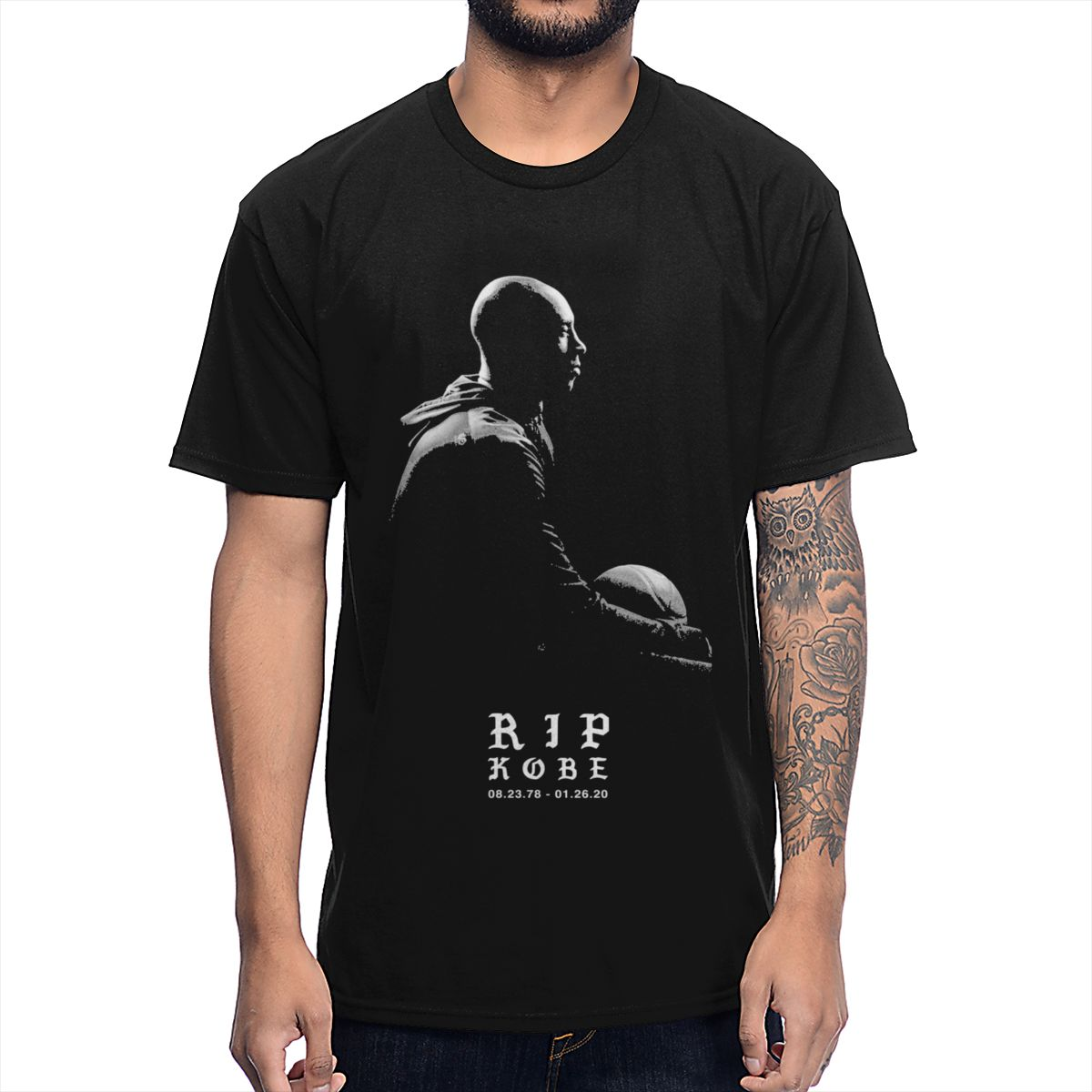 Kobe Bryant RIP T Shirt Black Mamba Out  Tee Shirt