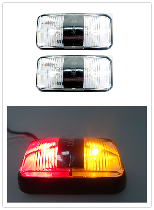 10 X Rouge 24v 6 Led Feux De Gabarit Signalisation Pour Camion Remorque Auto Van