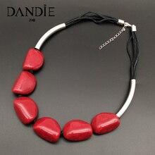 Dandie акриловые трещины бисера ожерелье, модные, простые женские ювелирные изделия