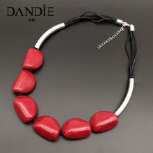 Dandie Acrylic crack bead necklace, fashionable, simple female jewelry