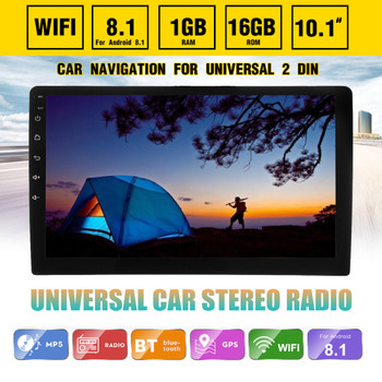 Android 8.1 Car Stereo Radio 2 Din GPS Navigation 10.1 Inch 1+16G IPS 2.5D Touch Screen Radio WIFI FM Multimedia MP4 MP5 Player image
