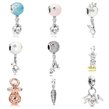 New Colletion 100% 925 Sterling Silver Best Mom Charm Fit Pandora Bracelet Beads For Jewerly Making Gift