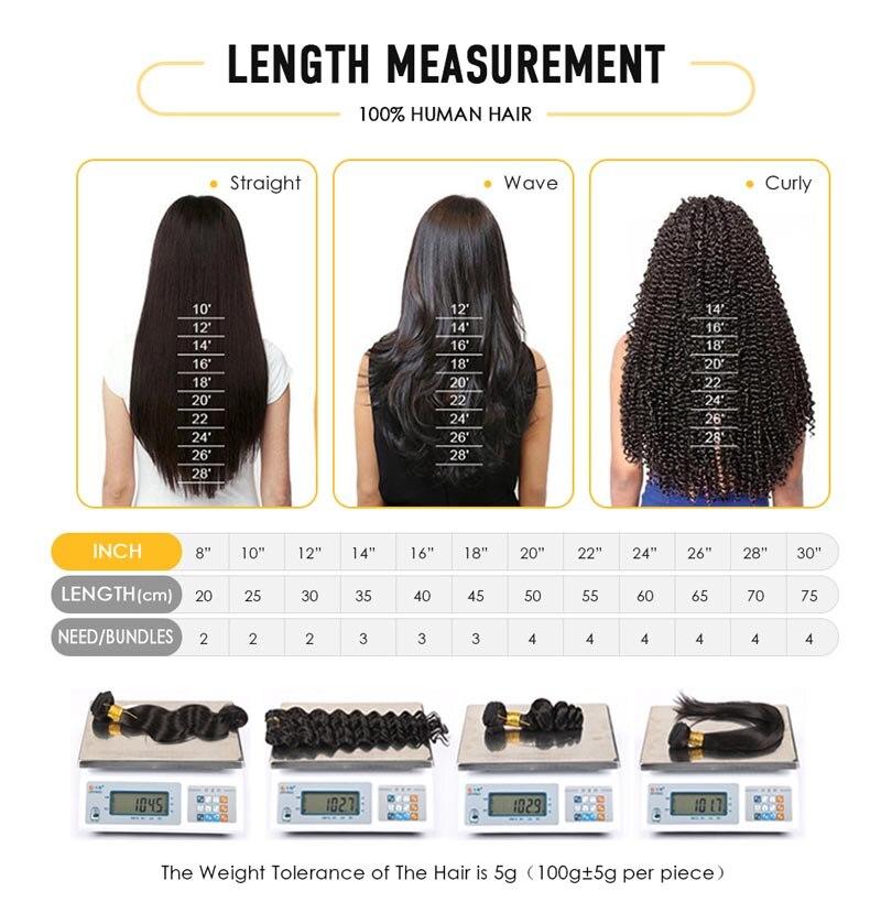 cabelo humano 100 strand ponta do prego