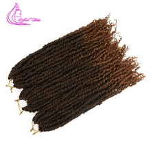 Refined Twisted Passion Twist Hair 18inch long Synthetic Ombre Crochet