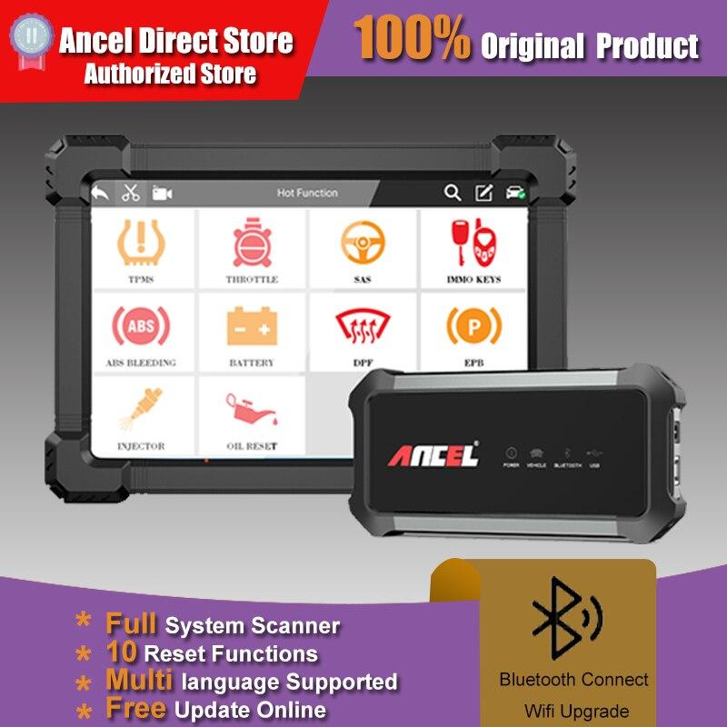 ANCEL X7 كامل نظام OBD2 الماسح الضوئي IMMO BMS EPB ABS النفط إعادة OBD2 رمز القارئ لمحرك متعدد اللغات المهنية ماسح الرادار الخاص بالسيارة