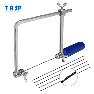 "TASP 4"" Adjustable Frame Sawbow U-shape Coping Jig Saw for Woodworking Craft Jewelry DIY Hand Tools with 6pcs Spiral Blades(China)"