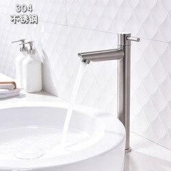 Podniesienie 304 ze stali nierdzewnej pojedynczy zimnej umywalka kran łazienka wiodących stół umywalka ceramika łazienkowa hurtownie| |   -