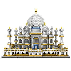 Image 2 - 3950PCS Blocks Set Architecture Landmarks Taj Mahal Palace Model Building Blocks Children Educational Toys 3D Bricks Xmas Gifts