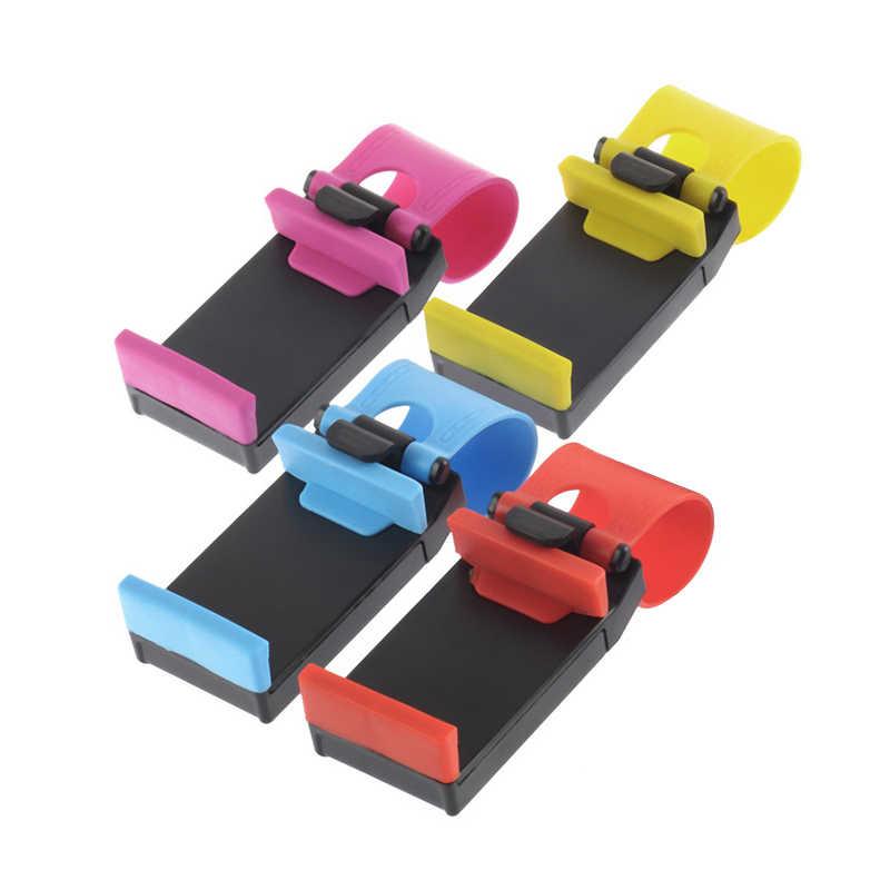 ABS Suporte Do Telefone Do Carro Universal Para O Telefone No volante Suporte Não Magnético Suporte Móvel Suporte Para iPhone Smartphone