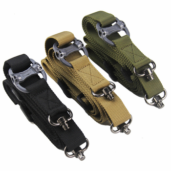 MS4 Tactical Single Point Gun Sling Shoulder Rifle Strap Airsoft Paintball Adjustable Safety Strap Military Hunting Accessories