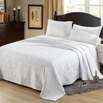 Pure white gauze bedspread for bed cotton quilted quilt sets double bed cover quilted bed spread king cotton quilt фото