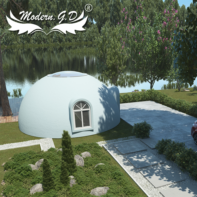 House Use Polystyrene Prefabricated Commercial Building Dome House Modular For Holiday