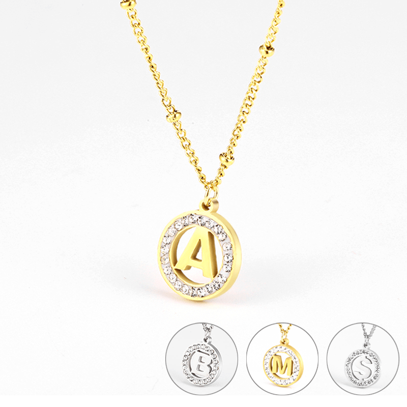 letter stainless steel necklace for women charm pendant necklace woman accessories long necklace fashion name <font><b>couple</b></font> <font><b>jewelry</b></font> image