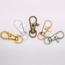 Брелок для ключей с разрезом под золото 10 шт