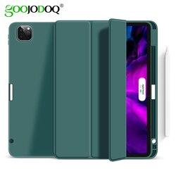 GOOJODOQ Чехол для iPad Pro 11 2020 & 2018, ультра тонкий PU кожаный смарт-чехол мягкий чехол для нового iPad Pro 11 дюймов 2-го поколения Чехол