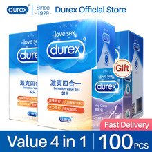 Durex Condoms 4 Types Sensation Value Ultra Thin Lubricated Sex Products Natural Rubber Latex Penis Sleeve Sex For Men