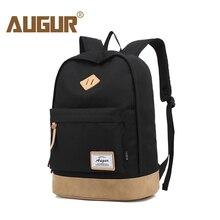 augur Casual Backpack School Bag for Teenagers College Waterproof Oxford Travel Bag 15inch Laptop Back packs Bolsas Mochila