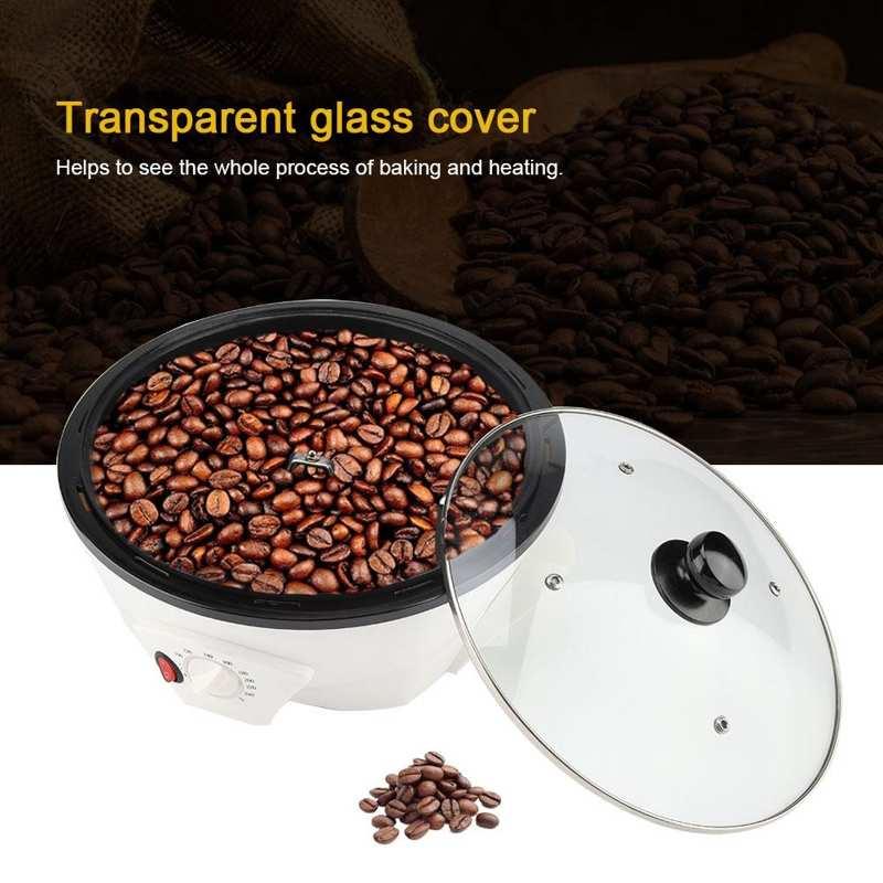 220V 800W Fashion Electeic Coffee Roaster Food Baking Machine EU Plug Home Office Electrical Appliances