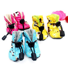 Teddy Pet Shoes Waterproof Shoe Cover Winter Puppy Booties Dog Rain Shoes Pet Boots Bichon Frise gou xie zi(China)