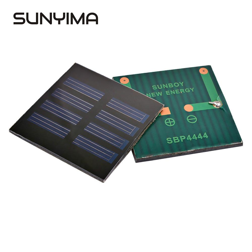SUNYIMA 2Pcs Portable Solar Charger Panels China 44x44mm 2.2V 35mA Sun Solar Panel System DIY For USB Chargeur Solaire Batterie