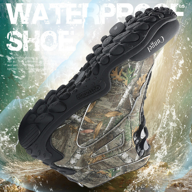 NEW Camo Tactical Boots Men Waterproof Military Tactical Boots Outdoor Combat Shoes Trekking Sneakers Man Hiking Hunting Boots 6