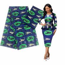 Robe en soie à imprimé africain pour femmes, 4 yards, ruban assorti 2 yards, design ankara