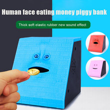 Battery Powered Face Money Eating Coin Bank Saving Box Kids Toys Gifts DC156 cheap Eco-Friendly Stocked Other