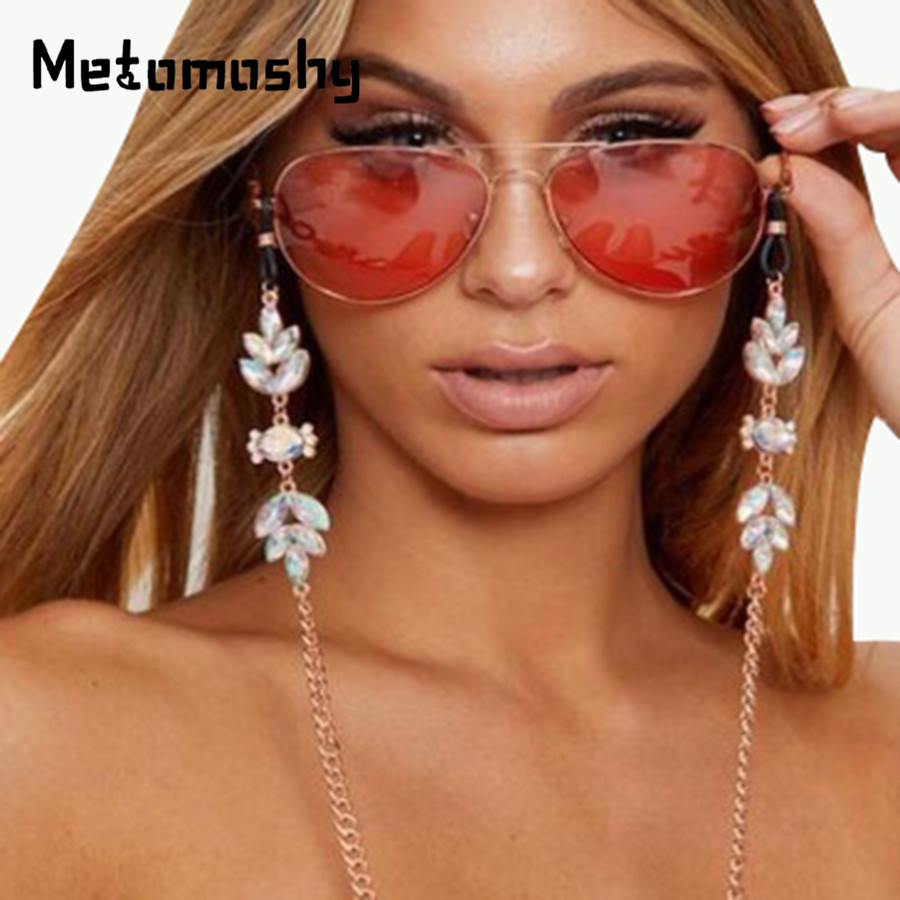 2020 Fashion Diamond Sunglasses Chain Women Gold Color Reading Glasses Chains Cord Holder Neck Strap Rope Glasses Accessories