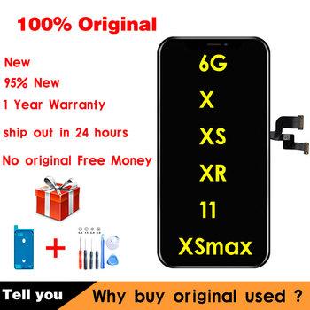 100 oryginalny używany do iPhone XR XS Max ekran zastępczy LCD do iPhone 11 6 wyświetlacz True Tone z montażem ekranu dotykowego 3D tanie i dobre opinie GPadparts NONE CN (pochodzenie) Ekran pojemnościowy 2560x1440 3 APPLE AMOLED XR XS X XS max 11 6 LCD i ekran dotykowy Digitizer