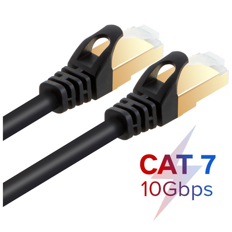 Cat7 SSTP Cable Ethernet Patch Cable for RJ45 Computer,XBox Networking LAN Cords 0.5m/1m/2m/3m/5m/10m/20m/30m