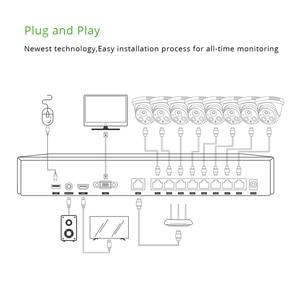 Image 4 - 8ch 5MP POE аудио комплект H.265 Системы Умное видеонаблюдение Безопасность NVR 5.0MP Крытый ИК IP Камера видеонаблюдения «сделай сам» г. Мастер
